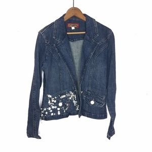 Boom Boom Jeans Jewel Dark Wash Denim Jean Jacket